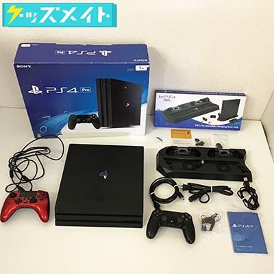 PS4本体 PS4 Pro CUH-7000B B01 Jet Black 1TB  縦置きスタンド , コントローラー買取