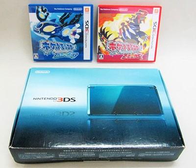 ニンテンドー 3DS 本体 アクアブルー  ポケットモンスター アルファサファイア オメガルビー買取