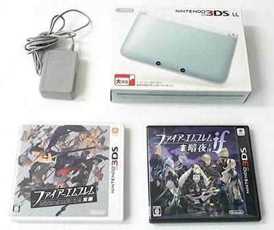 ニンテンドー 3DS LL ミント×ホワイト ファイアーエムブレム 覚醒 ファイアーエムブレムif 暗夜王国 買取