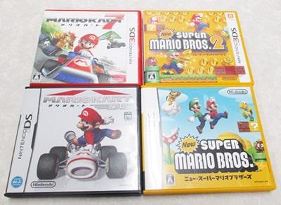 ニンテンドー3DS マリオカート7 Newスーパーマリオブラザーズ2 DS マリオカート等買取