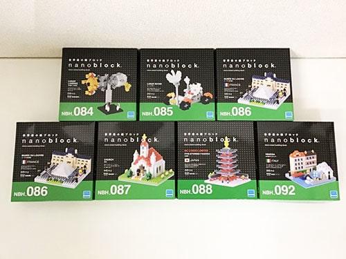 Kawada ナノブロック nano block 五重塔、水の都ベネツィア、ルーヴル美術館、教会、月着陸への挑戦、ムーンバギー 他買取