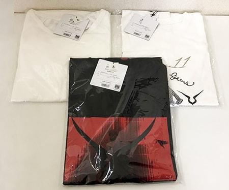 未開封 コードギアス反逆のルルーシュ × R4G LOVE CODE GEASS MENS(ホワイト)、我に従え!!、BLACK REBELLION Tシャツ Lサイズ買取